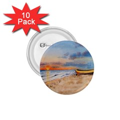 Sunset Beach Watercolor 1 75  Button (10 Pack) by TonyaButcher