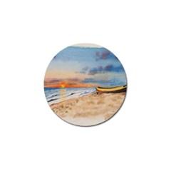 Sunset Beach Watercolor Golf Ball Marker 10 Pack by TonyaButcher