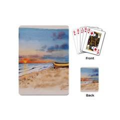 Sunset Beach Watercolor Playing Cards (mini) by TonyaButcher