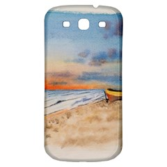 Sunset Beach Watercolor Samsung Galaxy S3 S Iii Classic Hardshell Back Case by TonyaButcher