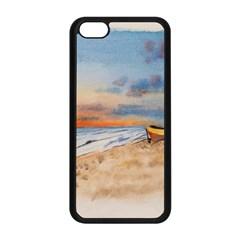Sunset Beach Watercolor Apple iPhone 5C Seamless Case (Black) by TonyaButcher