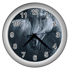 Equine Grace  Wall Clock (silver) by TonyaButcher