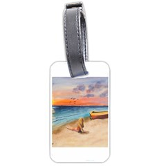 Alone On Sunset Beach Luggage Tag (two Sides)