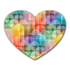 Circles Mouse Pad (heart) by Lalita