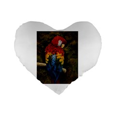 Preening 16  Premium Heart Shape Cushion  by TonyaButcher
