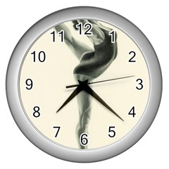 Attitude Wall Clock (silver) by TonyaButcher