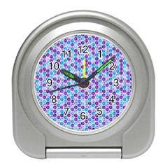 Purple Blue Cubes Desk Alarm Clock by Zandiepants
