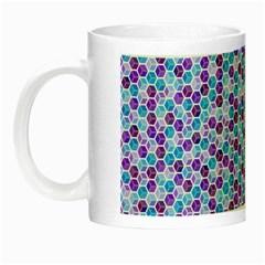 Purple Blue Cubes Glow in the Dark Mug