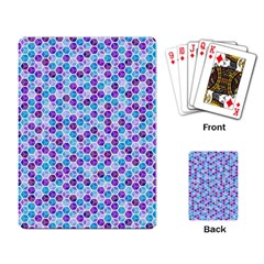 Purple Blue Cubes Playing Cards Single Design by Zandiepants