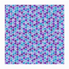 Purple Blue Cubes Glasses Cloth (medium, Two Sided) by Zandiepants
