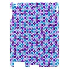 Purple Blue Cubes Apple iPad 2 Hardshell Case by Zandiepants