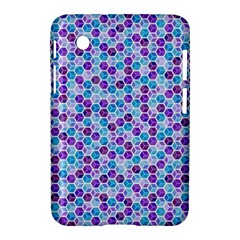 Purple Blue Cubes Samsung Galaxy Tab 2 (7 ) P3100 Hardshell Case  by Zandiepants