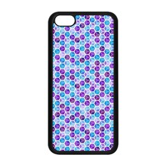 Purple Blue Cubes Apple iPhone 5C Seamless Case (Black)