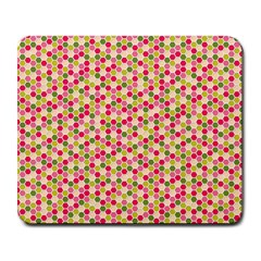 Pink Green Beehive Pattern Large Mouse Pad (rectangle) by Zandiepants