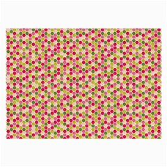 Pink Green Beehive Pattern Glasses Cloth (large, Two Sided) by Zandiepants