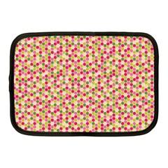Pink Green Beehive Pattern Netbook Sleeve (medium) by Zandiepants