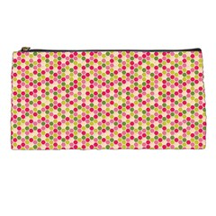 Pink Green Beehive Pattern Pencil Case by Zandiepants
