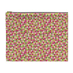 Pink Green Beehive Pattern Cosmetic Bag (xl) by Zandiepants