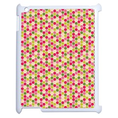 Pink Green Beehive Pattern Apple Ipad 2 Case (white) by Zandiepants