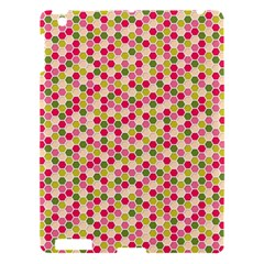 Pink Green Beehive Pattern Apple Ipad 3/4 Hardshell Case by Zandiepants
