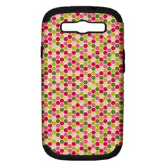 Pink Green Beehive Pattern Samsung Galaxy S Iii Hardshell Case (pc+silicone) by Zandiepants