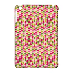 Pink Green Beehive Pattern Apple Ipad Mini Hardshell Case (compatible With Smart Cover) by Zandiepants