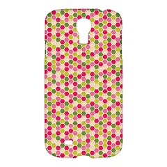 Pink Green Beehive Pattern Samsung Galaxy S4 I9500/i9505 Hardshell Case by Zandiepants