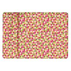 Pink Green Beehive Pattern Samsung Galaxy Tab 10 1  P7500 Flip Case