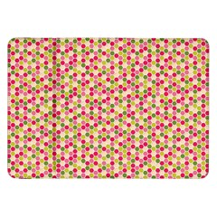 Pink Green Beehive Pattern Samsung Galaxy Tab 8.9  P7300 Flip Case by Zandiepants