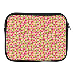 Pink Green Beehive Pattern Apple Ipad Zippered Sleeve by Zandiepants