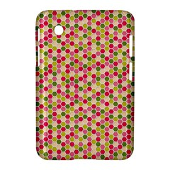 Pink Green Beehive Pattern Samsung Galaxy Tab 2 (7 ) P3100 Hardshell Case  by Zandiepants