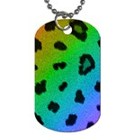 Cool Rainbow Cheetah Print Design Dog Tag (Two Sides)