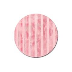Pink Grunge Magnet 3  (round) by StuffOrSomething