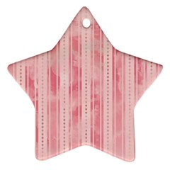 Pink Grunge Star Ornament (two Sides) by StuffOrSomething