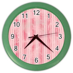 Pink Grunge Wall Clock (Color) by StuffOrSomething