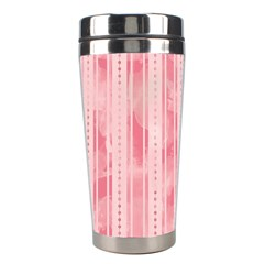 Pink Grunge Stainless Steel Travel Tumbler by StuffOrSomething