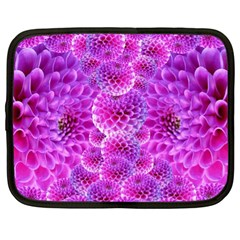 Purple Dahlias Netbook Sleeve (xl) by FunWithFibro