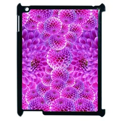Purple Dahlias Apple Ipad 2 Case (black) by FunWithFibro