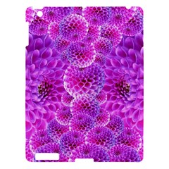 Purple Dahlias Apple Ipad 3/4 Hardshell Case by FunWithFibro
