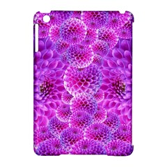 Purple Dahlias Apple Ipad Mini Hardshell Case (compatible With Smart Cover) by FunWithFibro