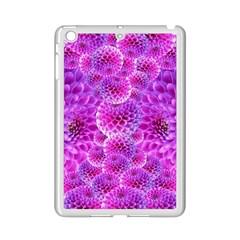Purple Dahlias Apple Ipad Mini 2 Case (white) by FunWithFibro