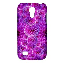 Purple Dahlias Samsung Galaxy S4 Mini (gt I9190) Hardshell Case  by FunWithFibro