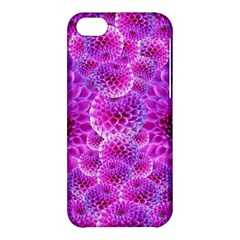 Purple Dahlias Apple Iphone 5c Hardshell Case by FunWithFibro