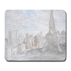 Eiffel Tower Paris Large Mouse Pad (rectangle) by rokinronda