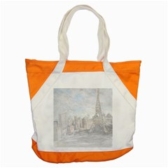 Eiffel Tower Paris Accent Tote Bag by rokinronda