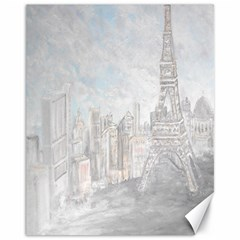 Eiffel Tower Paris Canvas 11  X 14  (unframed) by rokinronda