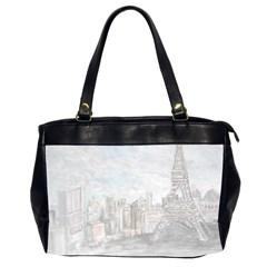 Eiffel Tower Paris Oversize Office Handbag (two Sides) by rokinronda