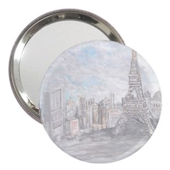 Eiffel Tower Paris 3  Handbag Mirror