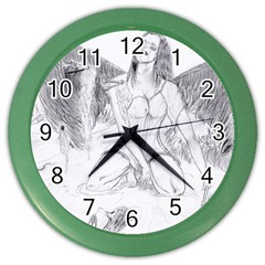 Bleeding Angel 1  Wall Clock (color)