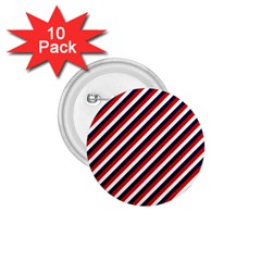 Diagonal Patriot Stripes 1 75  Button (10 Pack) by StuffOrSomething